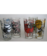 Vintage Hazel Atlas Melody Song Glass Tumblers Drinking Glasses Set of 6 - $60.00