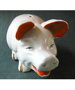 Vintage Pig Bank Orange and Gray Japan Kitsch Collectible Toy - $18.00