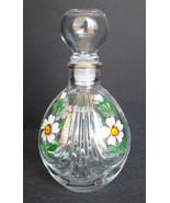 Vintage Perfume Vanity Bottle Daisy Signed Handpainted - $45.00