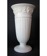 Vintage Vase Wedgwood QueensWare Grapes White F... - $30.00