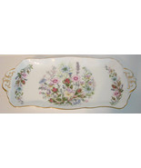 Vintage Ansley Sandwich Wild Tudor Tray England Floral - $48.00
