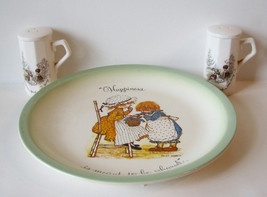 Vintage Holly Hobbie Plate and NOS Salt and Pep... - $30.00