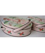 Vintage Tins Valleybrook Victorian Style Pink Lady Set of Pink Tins - $40.00