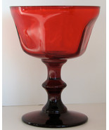 Vintage Stem Ruby Red Goblet  - $12.00