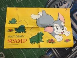 "vintage Walt Disney Productions 1970 Scamp poster 20"" x 12.25"" - $39.99"
