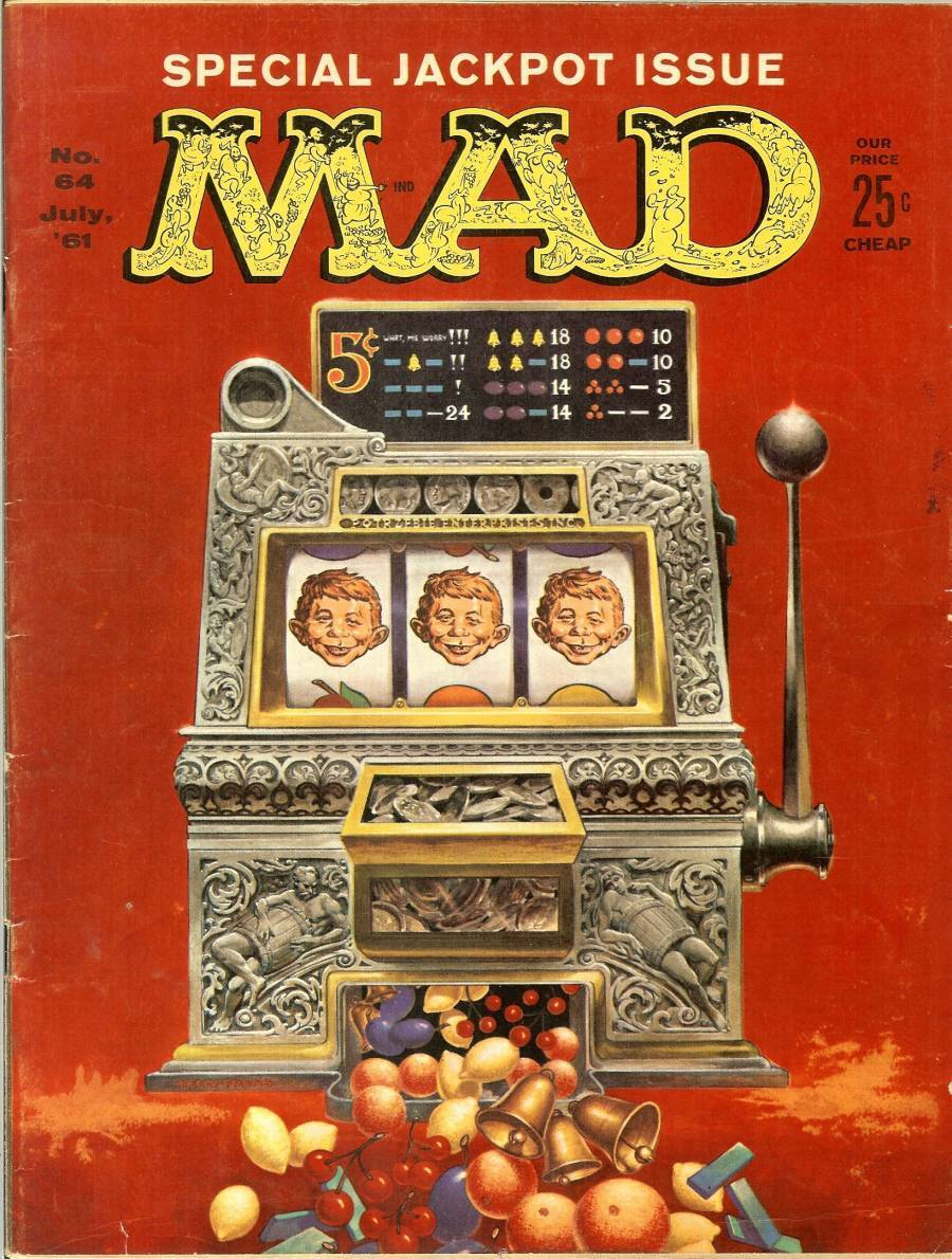 Primary image for mad magazine july 1961 special jackpot issue slot machine alfred e neuman