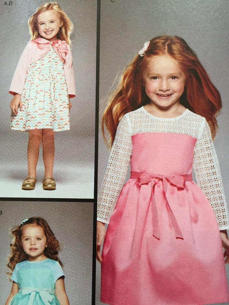 Simplicity Sewing Pattern 8025 Girls Childs Dress Bolero Size 1/2 - 3 New image 2