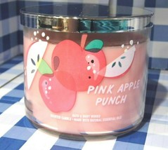 """Bath & Body Works """"PINK APPLE PUNCH"""" 3 Wick Candle Brand New - $16.29"""