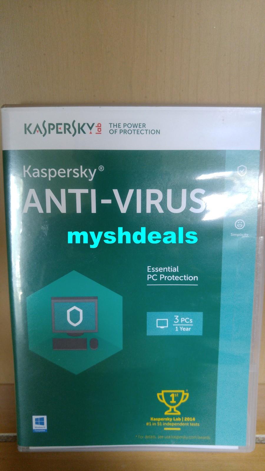 Kaspersky Anti Virus 2016 3 PCs 1 Year