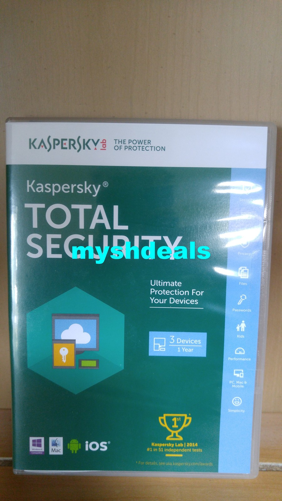 Kaspersky Total Security 2016 Version 3 User PC 1 Year