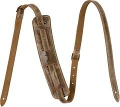 Fender®  Vintage Brown Distressed Leather Strap with Shoulder Pad #09906... - $67.49