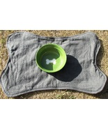 Bone-Shaped Dog Place Mat, Grey with Blue Stitc... - $5.00