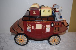 Wells Fargo & Company Stage Coach U.S. Mail Western Cookie Jar Container... - $20.42