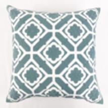 Teal Floral Cotton Cushion Cover 45cmx45cm - £19.34 GBP