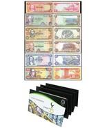 Jamaica 50 Cents to 20 Dollars, 1960-1999, P-53T72, UNC, Set in Folder - €81,23 EUR
