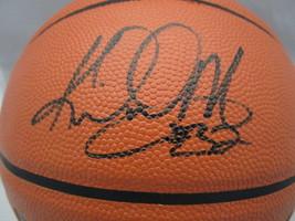 KARL MALONE / NBA HALL OF FAME / AUTOGRAPHED FULL SIZE NBA LOGO BASKETBALL COA image 2