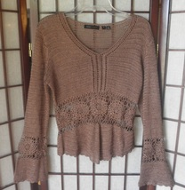 womens top nwot BCBG brown knit rayon size small - $64.98