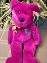 "Ty Beanie Buddy Millennium Bear NWT 1999 Very Soft 14"" Tall free ship - $9.90"