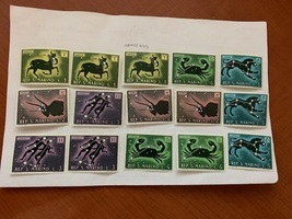 San Marino Several Zodiac stamps mnh 1970 stamps - $1.50