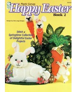 Happy Easter 2 in Plastic Canvas by Celia Lange House of White Birches #... - $6.95