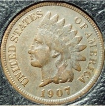 1907 Indian Head Cent VG PARTIAL LIBERTY #0741 - $2.39
