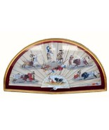 Antique Spanish Silk Hand Painted Hand Embroidered Fan Framed For Preser... - $749.99