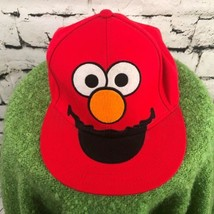 Elmo Sesame Street Boys Girls Unisex One Sz Hat Red Fitted Wool Blend Ba... - $14.84