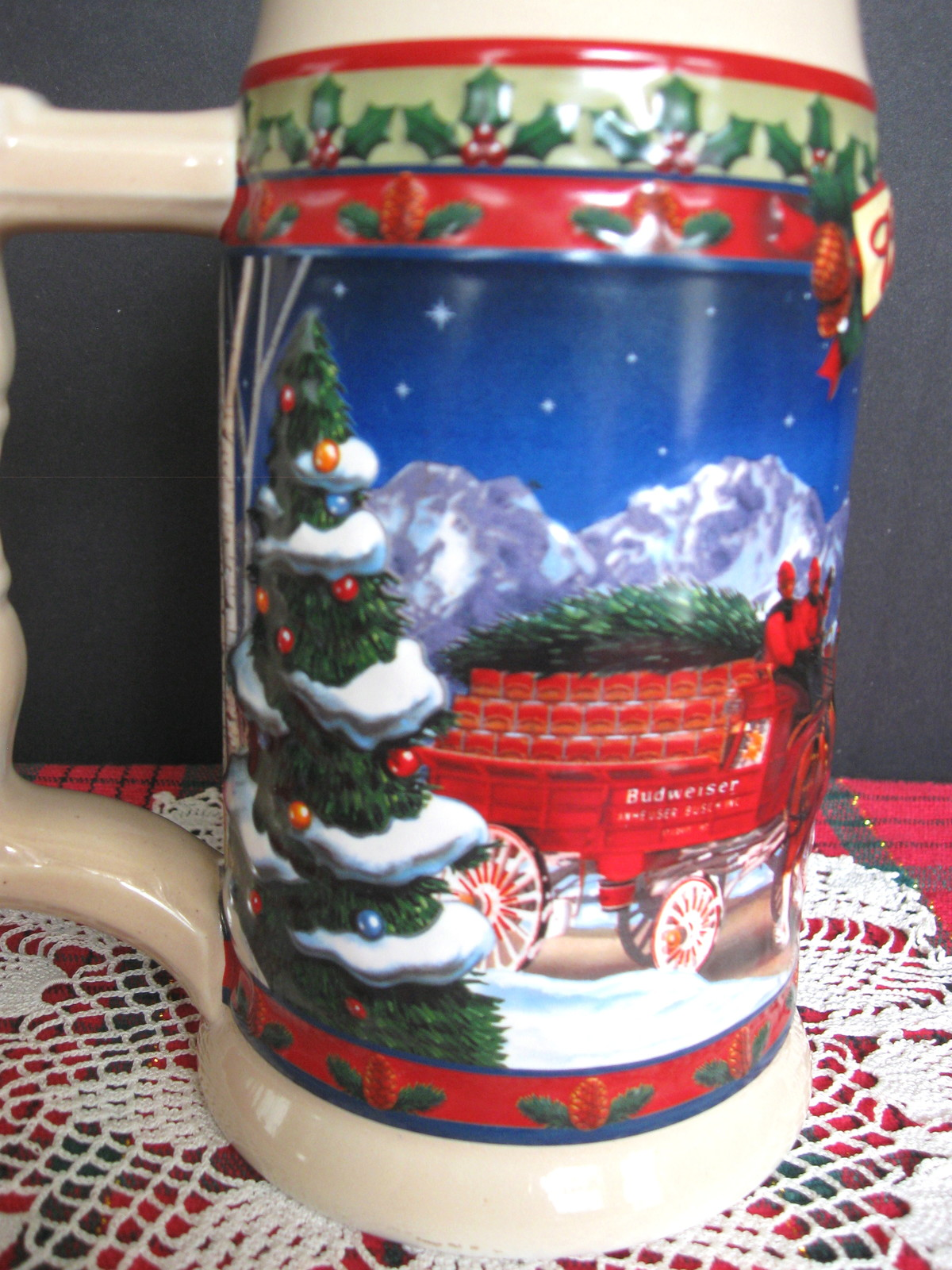 2003 Budweiser Holiday Stein - Old Towne Holiday - No. CS560 - No Box image 5