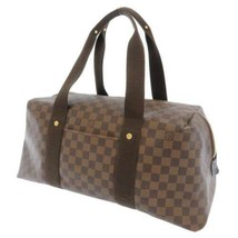 LOUIS VUITTON Weekender MM Damier Canvas Ebene N41138 Boston Bag Travel Bag - $989.05