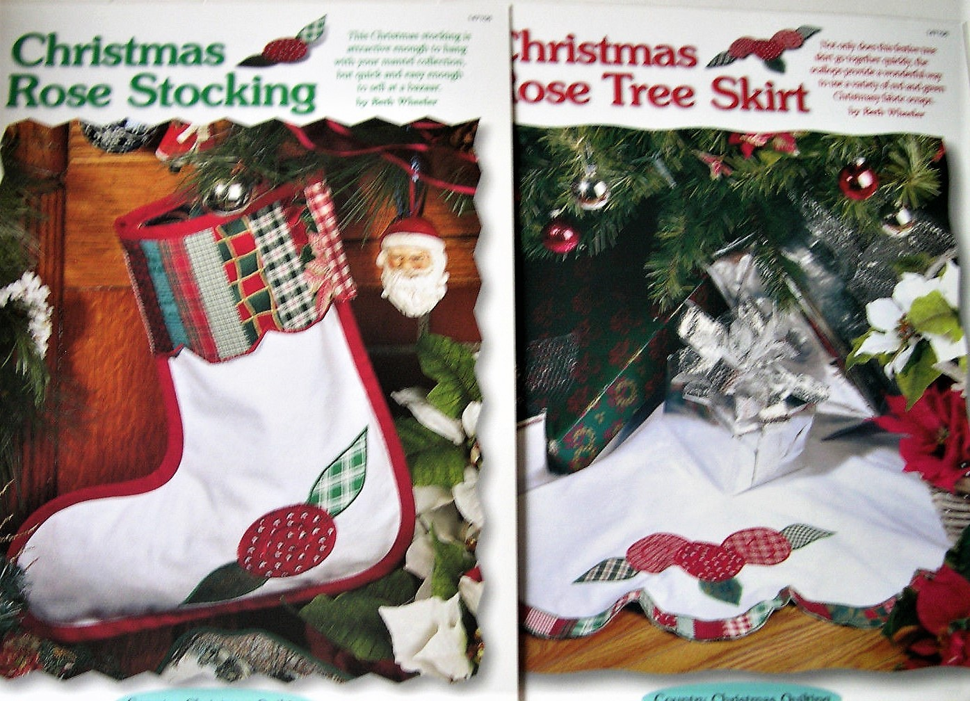 Primary image for Scrap Quilting Christmas Rose Stocking & Tree Skirt Pattern Leaflet Quilt