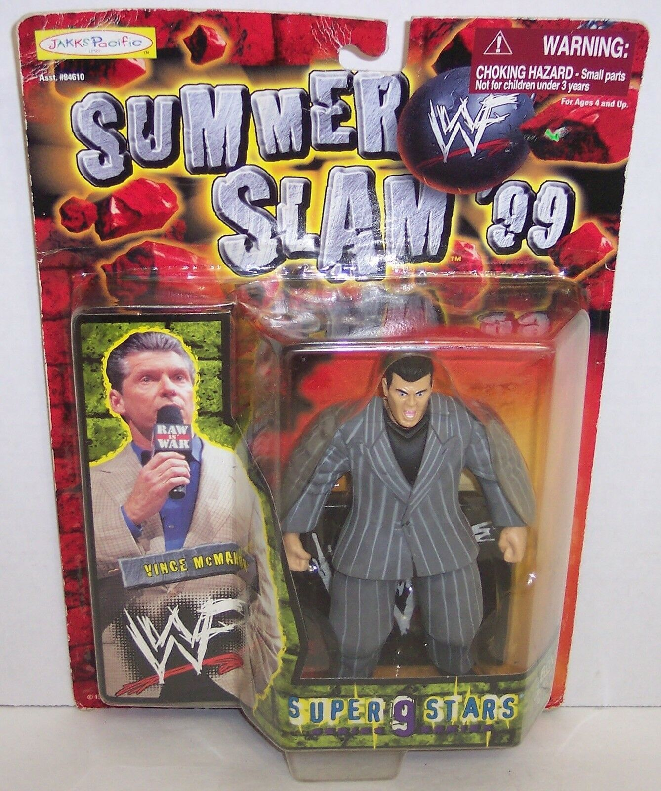 "Primary image for New! 1999 Jakk's Pacific Summer Slam ""Vince McMahon"" Action Figure WWF WWE [874]"