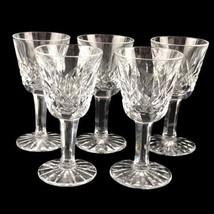 Vintage Set 5 Waterford Ireland Lismore Crystal Cordial Liqueur Glasses ... - $88.51