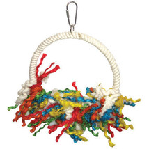 A&e Cage Assorted Happy Beaks Rope Swing Preening Bird Toy 8 X 11 In 644... - £17.02 GBP