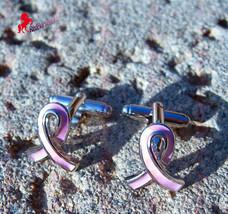 Pink Ribbon Breast Cancer Awareness Cufflink – Wedding, Graduation, Dad'... - $3.95