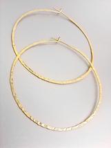 CHIC Lightweight Urban Anthropologie Mat Gold Plated Round Flat Hoop Earrings - $16.99