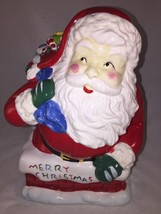 "COOKIE JAR ""ST NICHOLAS SQUARE"" A JOLLY SANTA ON A CHIMNEY WITH LOTS OF ... - $21.04"
