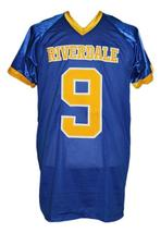 Archie Andrews #9 Riverdale High School Men Football Jersey Blue Any Size image 4