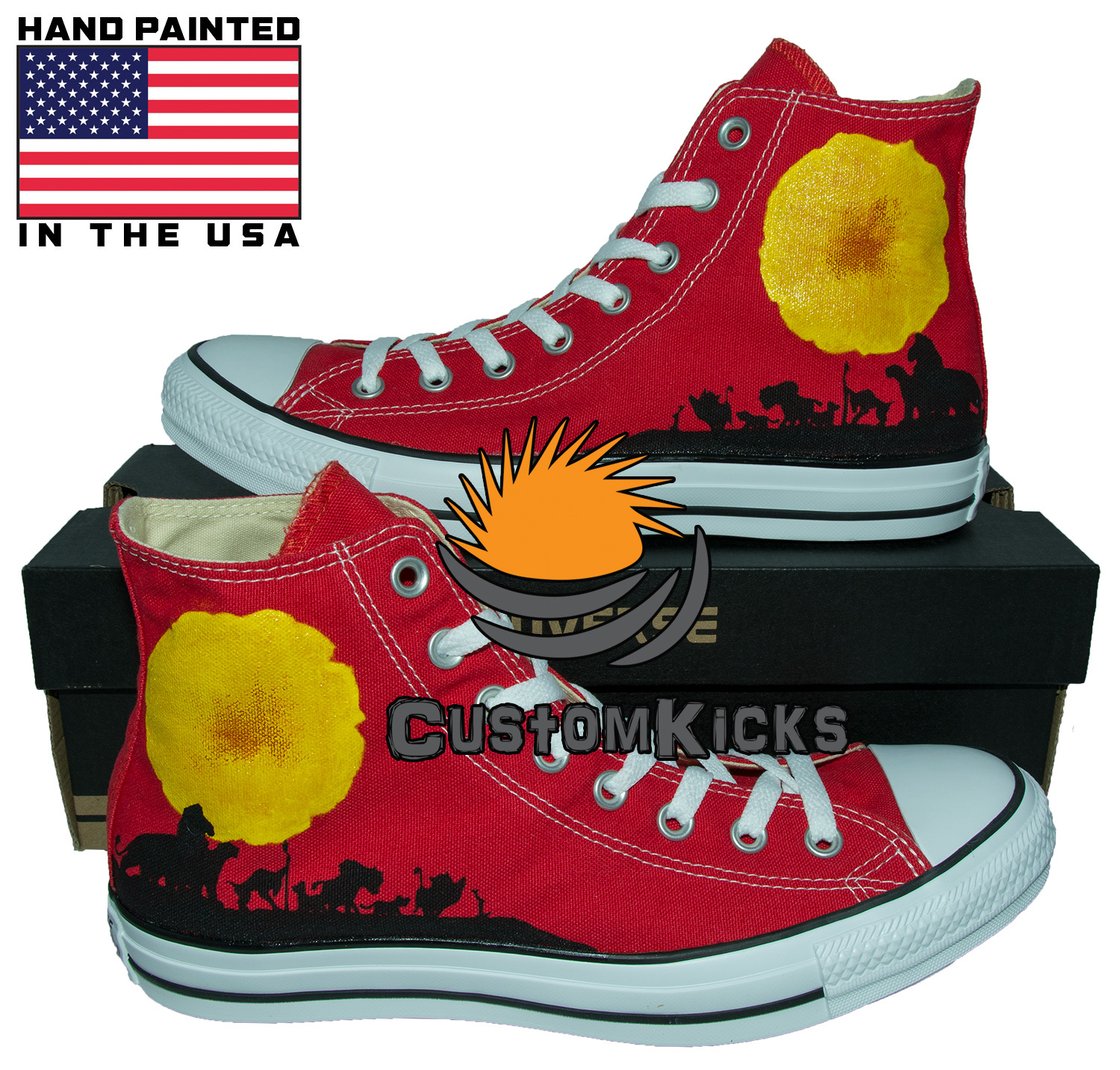 Hand painted shoes, The Lion King, Lion King Shoes, Simba, Hand painted converse for sale  USA