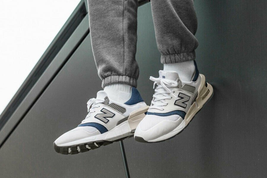 New Balance 997 Mens Trainers White/Blue Sneakers image 9
