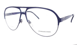 GUCCI Frame Glasses GG2216 STAINLESS STEEL Matt Blue MADE IN ITALY - New! - $199.95