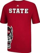 adidas North Carolina State Wolfpack Wraparound Logo Red T-Shirt sz Men'... - $6.91