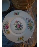 "THEODORE HAVILAND NY, ""GLENDALE"" 6 1/2 BREAD & BUTTER   PLATES(12),FLORA... - $24.70"