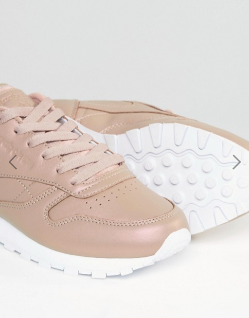 b60c82a46de37 Reebok Classic Leather Trainers In Rose Gold and 35 similar items