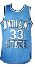 Larry Bird #33 College Basketball Jersey Sewn Blue Any Size image 3