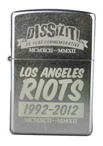 Dissizit! 20 Year Los Angeles Street Riots Commemorative Chrome Zippo Lighter NW image 1