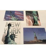 Statue Of Liberty New York City Lot of 4 Postcard Patriotic Lady Freedom... - $4.77