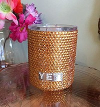 Rhinestone Yeti Lowball with Pearl Logo - $128.70