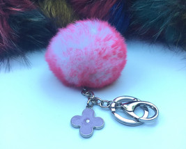 New! Summer Collection White Pink Frost fur pom... - $16.99