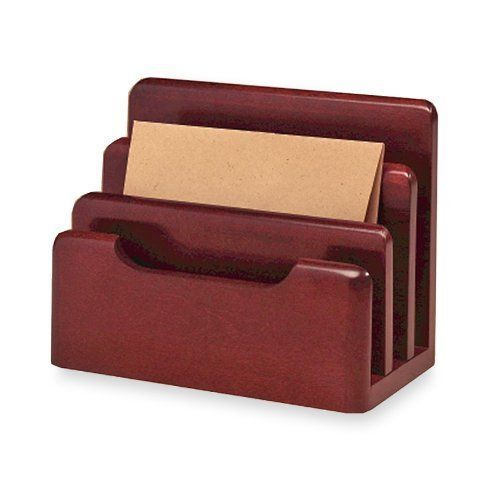 NEW Small Mail Organizer Holder Letter Wall Rack Mount Storage Wood Bill Office