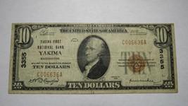 $10 1929 Yakima Washington WA National Currency Bank Note Bill! Ch. #335... - $373.99